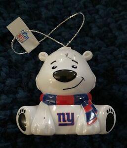 New York NY Giants Bear Christmas Holiday Tree Ornament - NEW - FREE SHIPPING