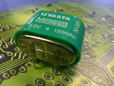 VARTA  3/V150H / V150H Ni-MH 3.6V 150mAh Rechargeable 3 Pin Button Cell Battery