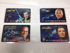 STAR TREK PHONE CARD SET ( STAR TREK T.N.G., T.O.S., VOYAGER, DEEP SPACE NINE )