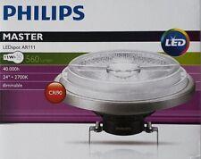 Philips AR111 G53 LED Bulb 11W=50w, Silver 24 deg 2700K 560lm - 40,000 hours