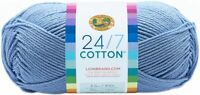 Lion Brand 24/7 Cotton Yarn-Sky, 761-107