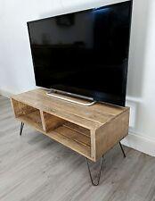 Rétro Reclaimed palette bois TV Table turvas avec Vintage épingle à cheveux jambes