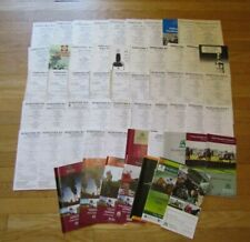56 X Hereford racecards datant de 1969 To 2009
