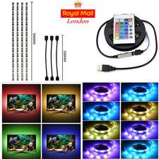 LED RGB Strip Lights USB Multi Colour TV Backlight Lighting Remote XMAS Decor LH