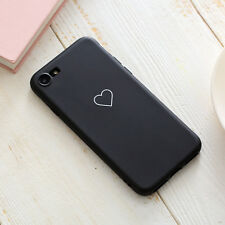 For iPhone XS XR 8 6S+ Cute Heart Soft Rubber TPU Shockproof Case Bumper Cover