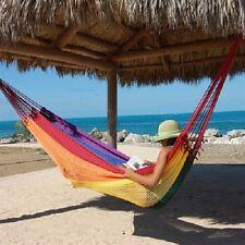 Portable Mayan Rope Mexican Hammock 2-3 person Family JUMBO Heavy Duty Polyester