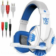 Gaming Headphones Bluetooth Best Wireless PC Laptop Ps4 Xbox One Headset LED