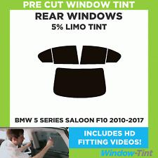BMW 5 SERIES 4-DOOR F10 2010+ 5% LIMO REAR PRE CUT WINDOW TINT