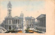 BIRMINGHAM UK ART GALLERY & CHAMBERLAIN MONUMENT M & COMPANY POSTCARD 1910s