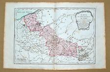 Superbe carte du département du Nord...1790 coloris époque TBE