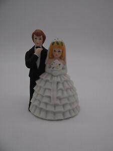 Lefton Wedding Cake Topper Bride Groom Made in Taiwan