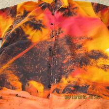 ODO Hawaiian Style Shirt, S/S, Beach Scene at Sunset, Medium