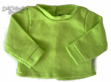 "Lime Green Long Sleeve T-Shirt for Bitty Baby + Twins 15"" Doll Clothes"