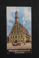 alte Karte Stadtkarte Zwickau Nr 59 old vintage Sammler