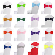 10/20/50/100 Spandex Chair Bands With Buckle Wedding Banquet Chair Sashes