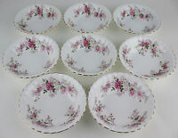 8 x Dessert Bowls Fruit Nappies Royal Albert Lavender Rose vintage England