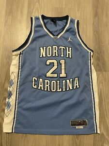 Michael Jordon #21 North Carolina Nike Elite Jerey Men's Size Large Lengh +2