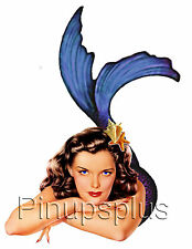 Retro Pinup Mermaid Waterslide Decal Stickers Great for Guitars & more S853