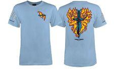 Powell Peralta Bones Brigade Tommy Guerrero Flaming Dagger Shirt Lt Blue Medium