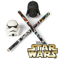 STAR WARS 3D Pencil Topper Erasers Darth Vader Stormtrooper Helmet Rubber School