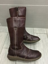 LADIES BROWN SUEDE AND LEATHER FAT FACE MID-CALF BOOTS, UK 6