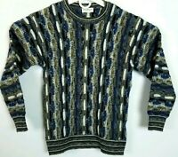 VTG Norm Thompson Mens L Knit Sweater Coogi Style Hip Hop Made in Italy