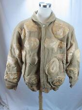 RARE Lim Ed Jeff Hamilton Reebok Men's NFL Tan Coat Sewn Patches Wool/Leather 4X