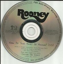 ROONEY When Did your heart go Missing PROMO Radio DJ CD single 2007 USA MINT
