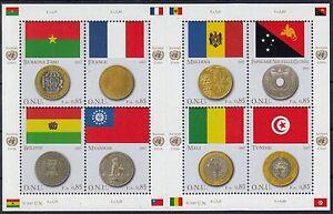 A 17 ) UN Geneva Coin and Flags / Miniature sheet ** / MNH / Year 2007
