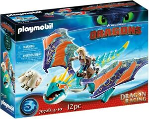 Playmobil - How To Train Your Dragon - Dragon Racing: Astrid and Stormfly PMB...