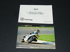 #223 BARRY SHEENE SUZUKI 500 GP IMOLA PILOTE MOTO COURSES 1976 INTERIMAGE PANINI