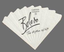 Carte  publicitaire - advertising card   - Bolero de  Gabriela Sabatini