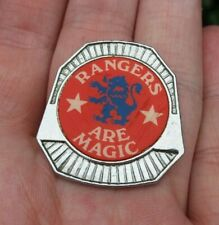 More details for rangers are magic vintage 1970s original insert pin badge rare vgc
