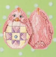 Mill Hill - Jim Shore - Pink Chick - Beaded Cross Stitch Kit - JS18-1715