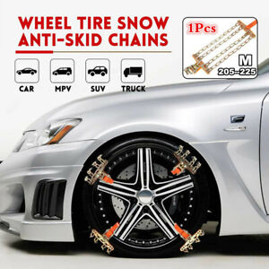 4-Chains Anti-Skid Snow Mud Tire Steel Chains Belt For Car/SUV/Truck Emergency