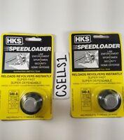 2 HKS Speed Loaders for S&W 586/686/581/681 Ruger GP100 .38 Spec/.357 Revolver
