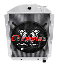 "2 Row Ace Radiator W/ 16"" Fan for 1941 - 1946 Chevrolet Truck Small Block V8 Eng"