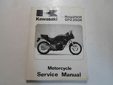 1986-1987 Kawasaki Ninja250R GPZ250R Service Manual WORN STAINED 1st EDITION