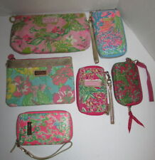 LILLY PULITZER Lot of 6 Cosmetic Bags Smart iPhone Case Photo Wristlet Purse