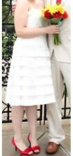 Plus-size Wedding Dress Short David's Bridal Size 14 Galina Ivory Strapless