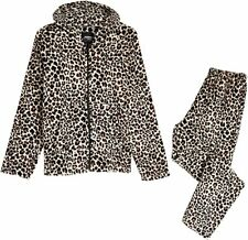 CityComfort Fleece Pyjamas Set, Animal Print Cosy Loungewear for Women