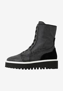 BOGNER OSLO 12 Damen Plateau-Boots Schuhe / Leder / Used-Optik