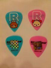 RILAKKUMA - Set of 2 Guitar Picks - KORILAKKUMA - san-x - BLUE Pink - 2007 Japan