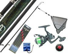 Complete Fishing Kit Set 11' Carbon Rod Rear Drag Reel, Landing Net and Tackle.