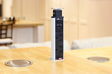 V8GSB-UK Kitchen Pop Pull Up Power Point Outlet Socket Bench Top USB