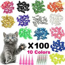Ymccool 100pcs Cat Nail Caps/Tips Pet Cat Kitty Soft Claws