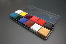 Conjunto De Pintura Cara y Cuerpo de 12 Colores Paletas Paleta Rostro Maquillaje Kit de arte de la pintura