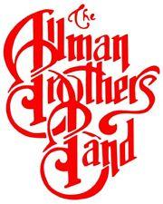 8657 Red Allman Brothers Band Blues Jazz Rock Music Rub-on Vinyl Sticker Decal