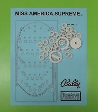 1976 Bally Miss America Supreme pinball / bingo rubber ring kit