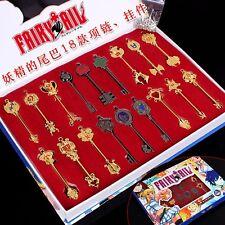 Fairy Tail Lcuy Celestial Spirit Gate key chains pendant necklace set of 18pcs